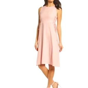 Women's 19 COOPER Light Pink Lace Up Side Dress